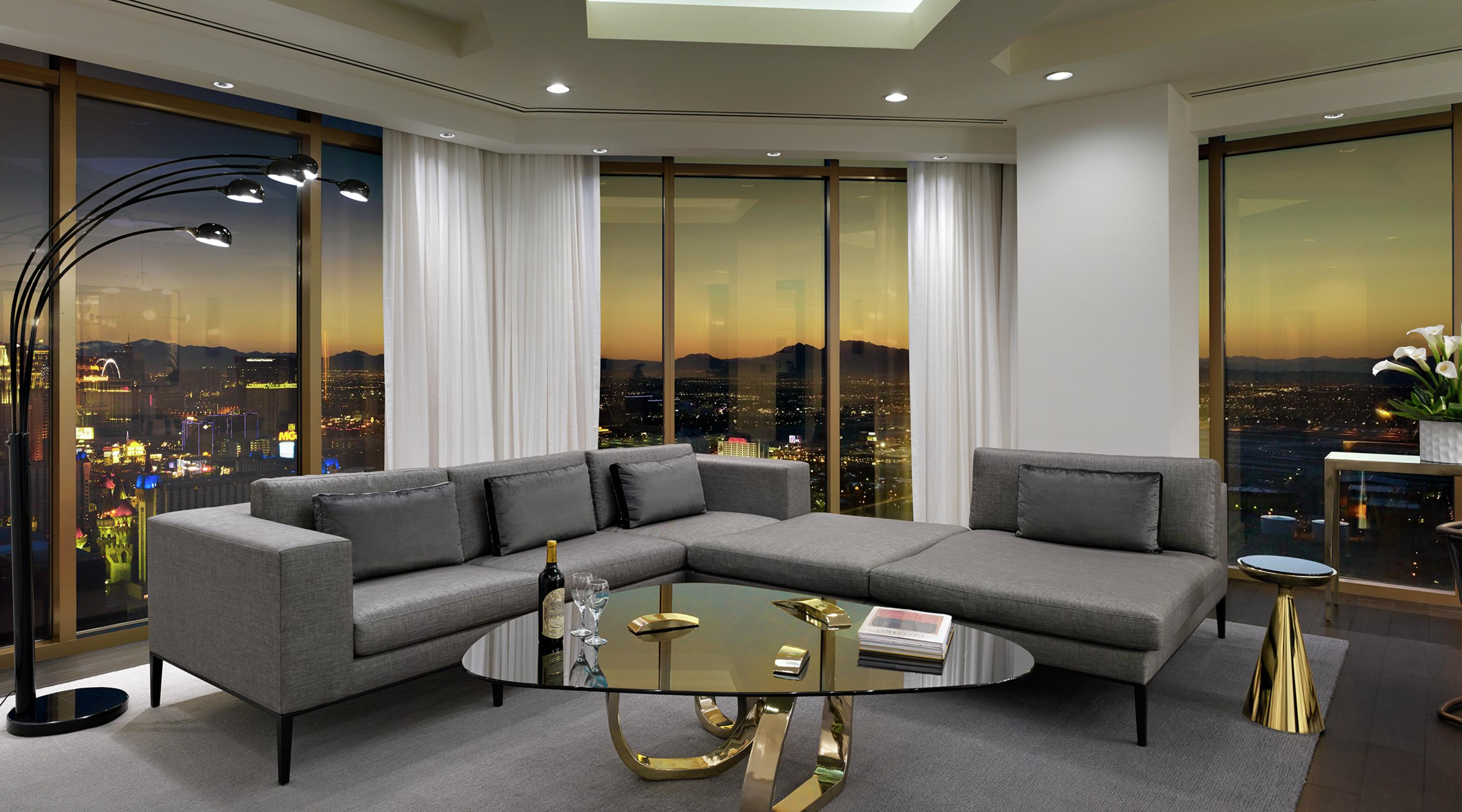Las Vegas Hotels Suites 3 Bedroom Penthouse Superior Suite Delano Las Vegas